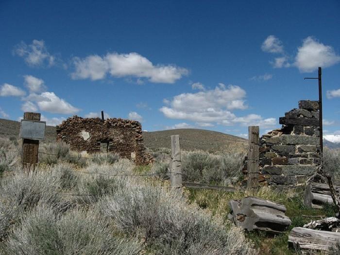 9. Ruins in Unionville, Nevada.
