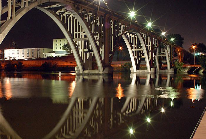 11. The Etowah Memorial Bridge in Gadsden, Alabama.