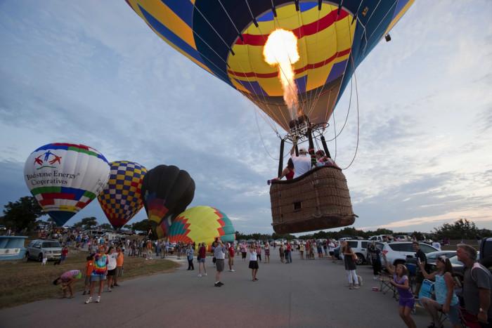 1) Ride in a hot air balloon!