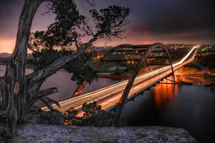 4) This incredible shot of the Pennybacker Bridge in Austin.