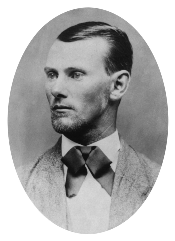 12. Jesse James robbed the first train in the West