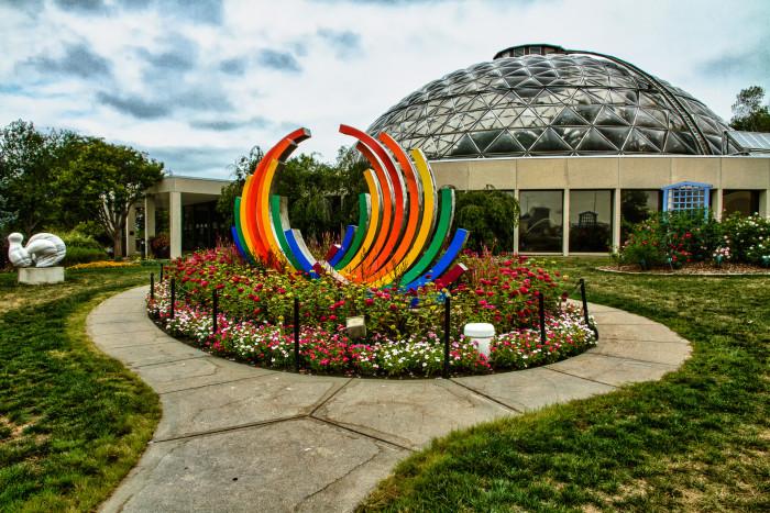4. Stroll through the gardens at the Botanical Center.