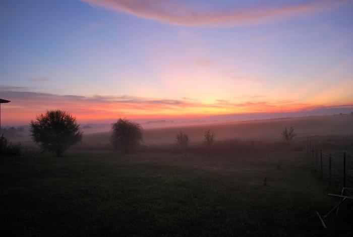 4. This foggy daybreak in Altoona