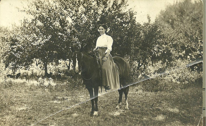 4. This girl from Collins, Iowa, posing on her new horse.