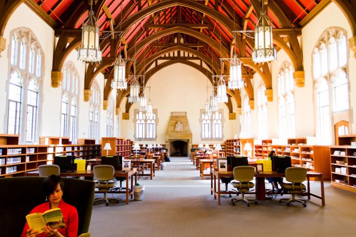13) Agnes Scott College Library Reading Room, Decatur, GA