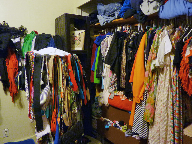 9. Dig frantically through your closet for clothing that (shouldn't be) in season.