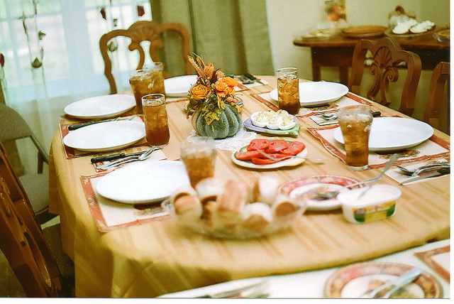 6. A home cooked meal shared with loved ones