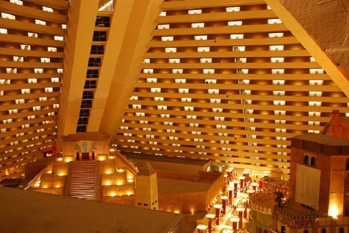 1. The interior of the Luxor Hotel & Casino in Las Vegas, Nevada.