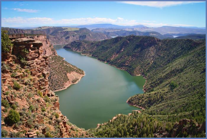 6) Flaming Gorge Reservoir