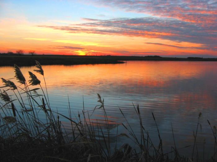 7. Such a CALMING sunset at J. Clark Salyer NWR in North Dakota!