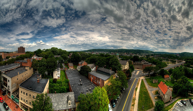 5. This scenic panorama taken from the roof of the Hotel Bethlehem.