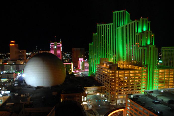 5. A beautiful Reno, Nevada skyline at night.