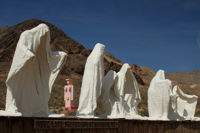 5. The Last Supper Sculpture and Lady Desert Sculpture - Rhyolite, NV