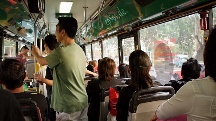 2) Public transportation makes you nervous.