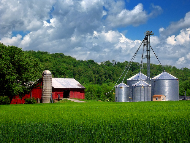 11. Here we have a typical Pennsylvania view. It's gorgeous, but doesn't turn many heads because we're so used to driving past it! Just a barn and some silos on a beautiful day.