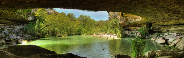 8)..and secret grottos and swimming holes to cool off at when it gets too hot.