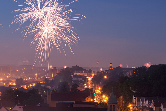 8. The 4th of July Celebration in Kirby Park in Wilkes-Barre