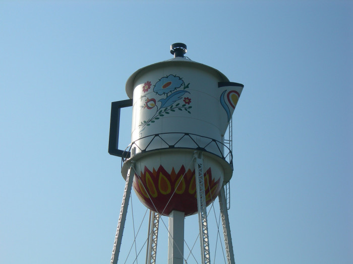 5. This unique coffee pot water tower