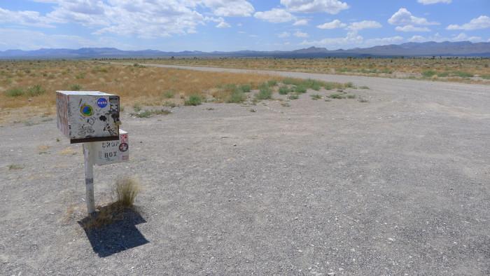 2. Area 51 Black Mailbox - Rachel, NV