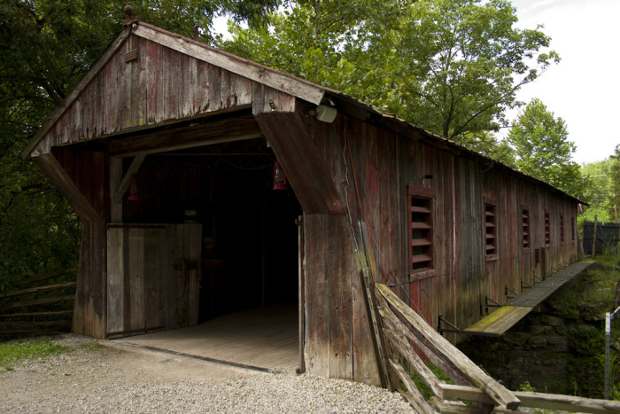 13) Clifton Mill covered bridge (Greene County)