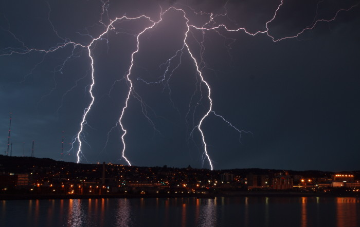 4. Lightning can be very hazardous and is frequent in the Minnesota summer.