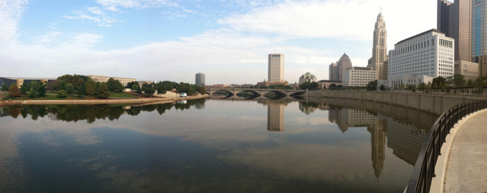 12) Columbus and the Scioto River