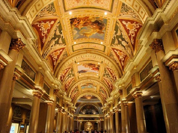 10. The GORGEOUS ceiling inside the Venetian Resort & Casino in Las Vegas, Nevada.