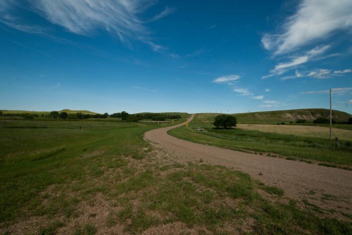 12. Such a peaceful area in Sims, North Dakota.
