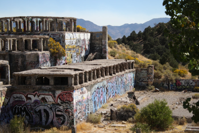 10. The abandoned American Flats mill in Virginia City, Nevada.