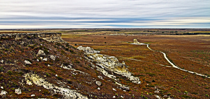 5.) Castle Rock (Gove County)