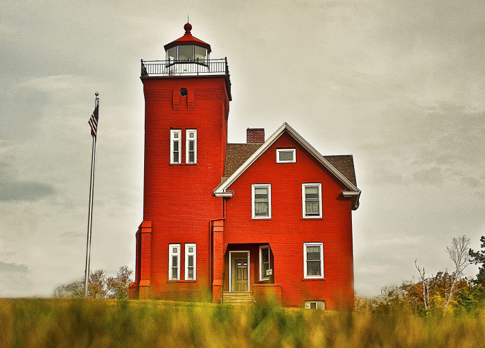 5 The two harbors lighthouse looks like a painting in this amazing shot.