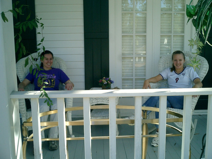 9) And whenever you come back home to visit, there's always a porch waiting for you!
