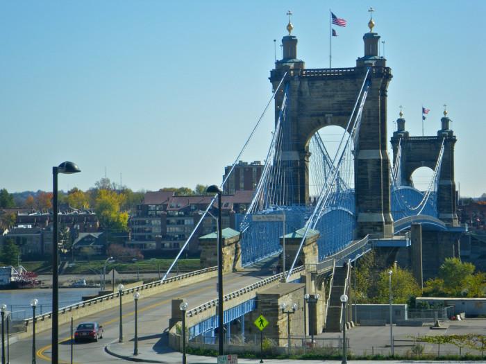 8) John A. Roebling Suspension Bridge (Cincinnati)