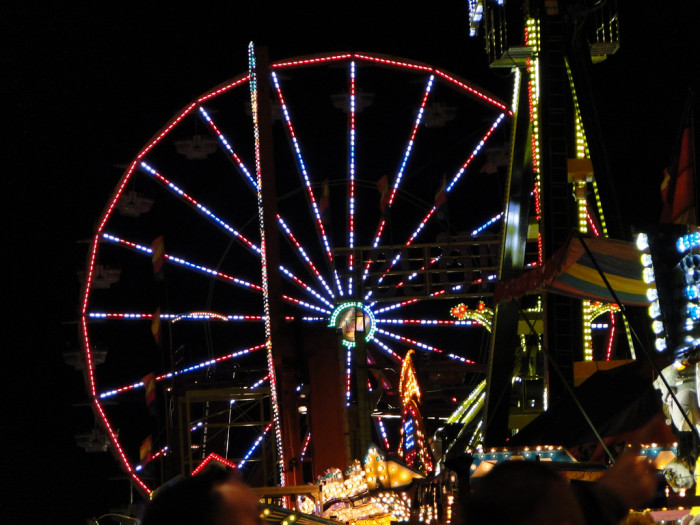 3. At the very top of a Ferris wheel at any Alabama fair or festival.
