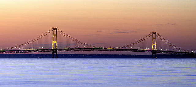 8) Did you know the Mackinac Bridge is one of the longest suspension bridges in the world?