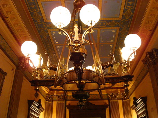 7) The 19 chandeliers in the Capitol in Lansing were specifically designed for the building by Tiffany's.