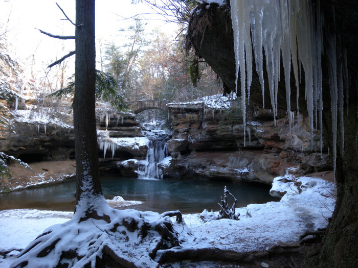 2) Winter at Old Man's Cave (Hocking Hills)