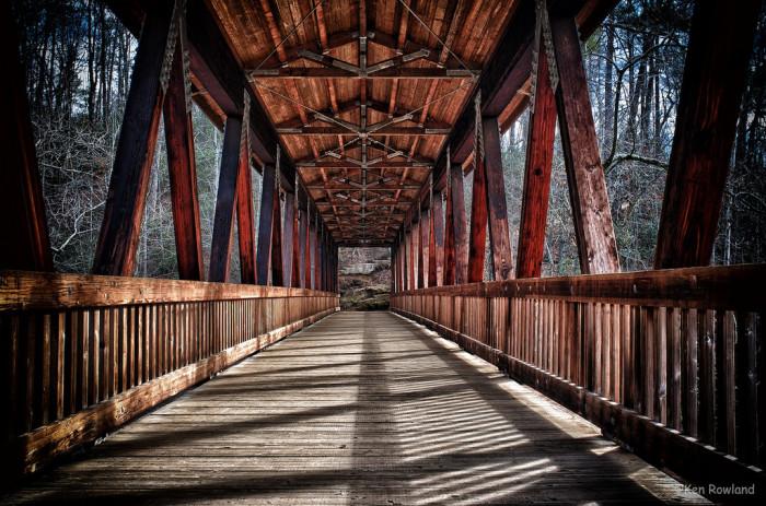 3) Vickery Creek Covered Bridge - Roswell, GA