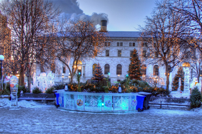 2. Rice Park and the Winter Carnival - Featured in 1992's The Mighty Ducks.