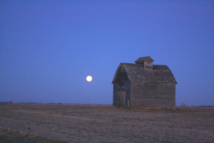 8. The Moon Illuminating a Beautifully Aged Barn
