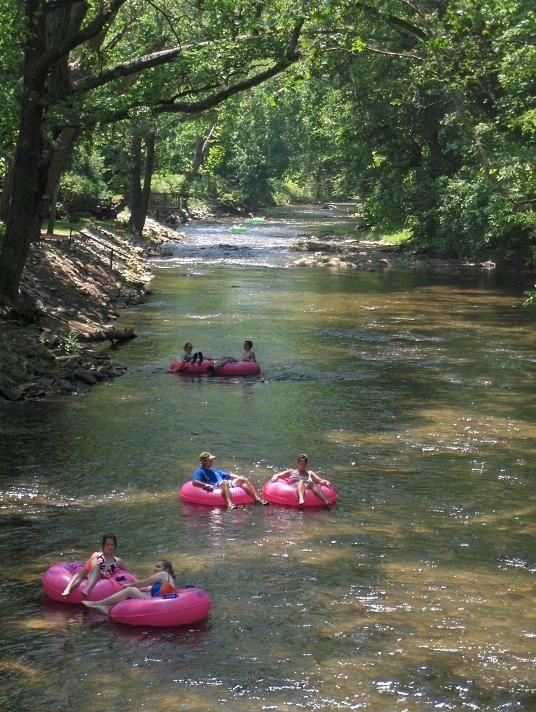 2) Tubing down the Chattahoochee River