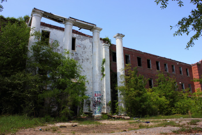 1. The front entrance of Old Bryce Hospital in Northport, Alabama.