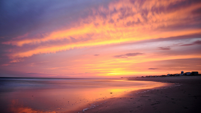 3. A relaxing beach day followed by a gorgeous sunset