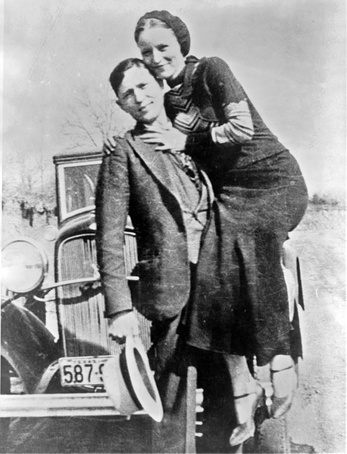 6. Bonnie and Clyde got into a shootout