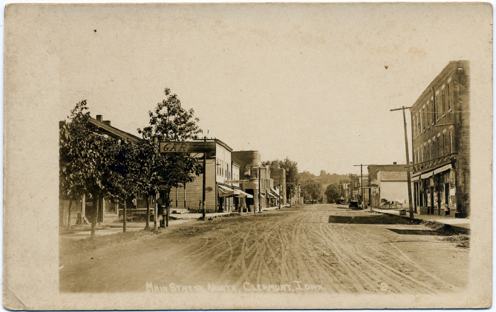 6. When Main Street in Clermont, Iowa, was a dirt road.