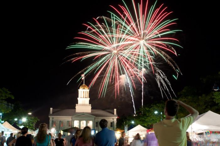 6. Fireworks in Iowa City