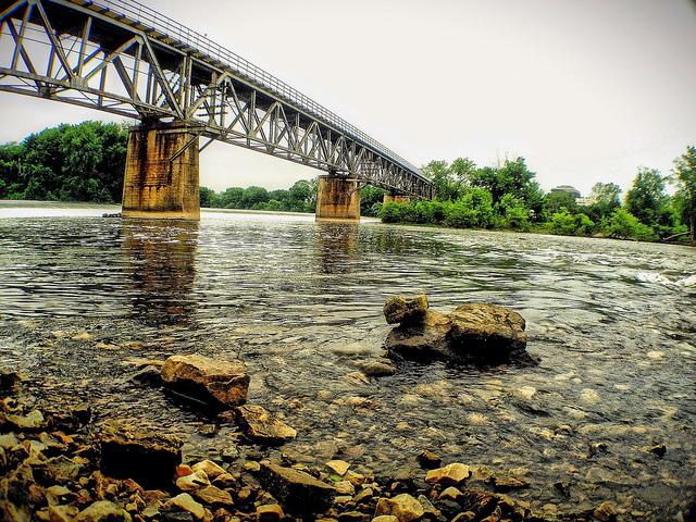 2. This bridge over serene water.
