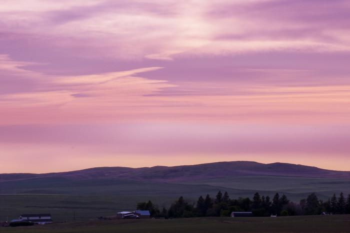 9. What a BREATHTAKING scene! This summer solstice sunset in western North Dakota is STUNNING!