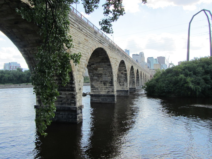 4. Stone Arch bridge is iconic and beautiful.