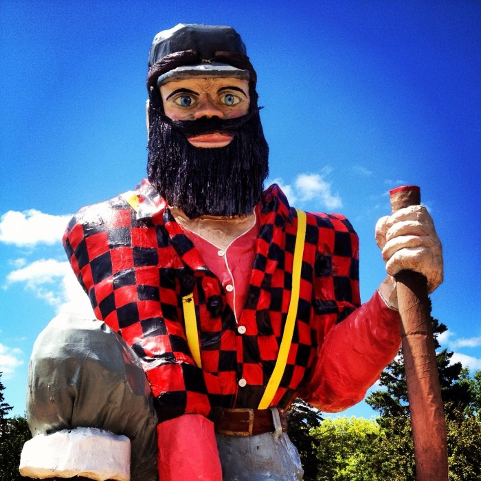 5. The Paul Bunyan Statue  - One was specially made for Fargo.